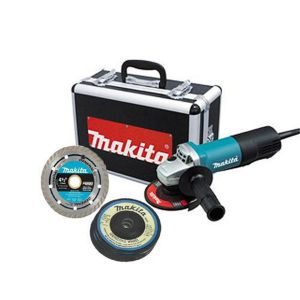 Makita 4-1/2 in. Paddle Switch Cut-Off/Angle Grinder w/ Diamond Blade and (4) Grinding Wheels