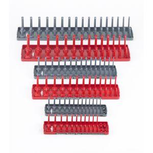 Hansen Global Socket Tray 6-Pack Assortment, Red/Gray