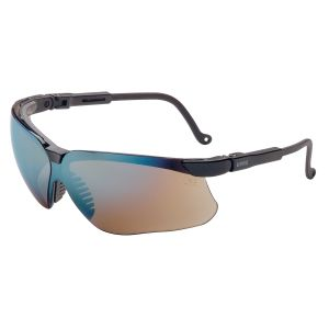 Genesis Black Frame Glasses with Gold Mirror Lens with UD Coating