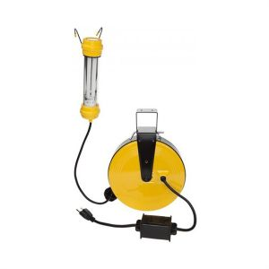 Bayco 13 Watt Fluorescent Work Light on 50 ft. Metal Reel