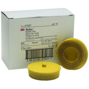 "3"" Scotch-Brite Roloc Bristle Discs 80 Grit Medium Yellow"