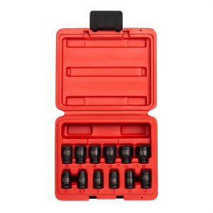 Sunex Tools 12-Piece 1/4 in. Drive Metric Magnetic Impact Socket Set