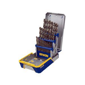 29 Piece Cobalt M-42 Metal Index Drill Bit Set