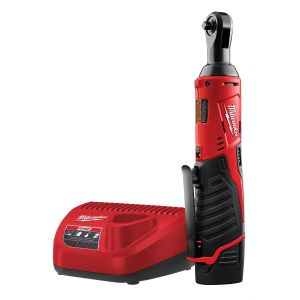 M12 Cordless 1/4 in. Lith-Ion Ratchet w/ (1) REDLITHIUM CP1.5 Battery Kit