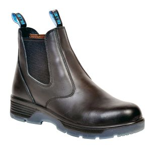 """Redback Boots Black 6"""" Slip-On Composite Toe Safety Boot, Size 9"""