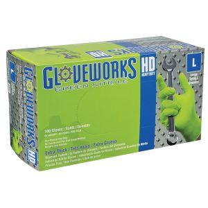 Gloveworks HD Green Nitrile Diamond Grip - X-Large