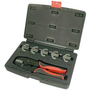7-Piece Professional Quick Change Ratcheting Crimping Tool Set