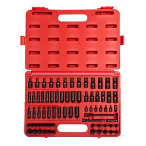 Sunex Tools 1/4 in. Drive 74-Piece SAE and Metric Master Impact Socket Set