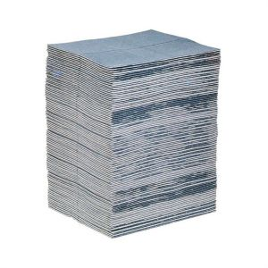 New Pig 15 in. x 19 in. Blue Absorbent Mat Pad (100 Pads)