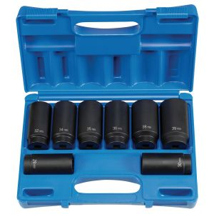 """1/2"""" Drive 8 pc. Spindle/Axle Nut Set - 12 Point"""