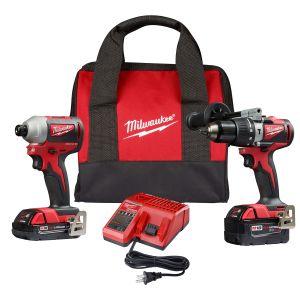 Milwaukee M18 Brushless Hammer Drill/Impact Driver 2-Tool Combo Kit