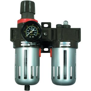 "3/8"" Filter, Regulator and Lubricator with Gauge"