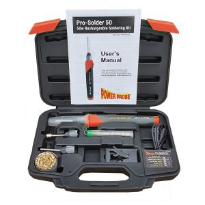 Pro-Solder 50 Electric Soldering Iron Kit, Rechargeable