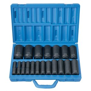 1/2 in. Drive 19-Piece Deep Length Fractional Master Set