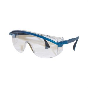 Astrospec 3000 Blue Frame Safety Glasses with Clear Lens