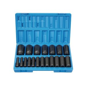 "1/2"" Dr. 19 Pc. Deep Length Fract. Set - 12 Point"
