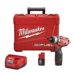 Milwaukee M12 Fuel 1/4 in. Hex 2-Speed Screwdriver w/ (2) Batteries Kit