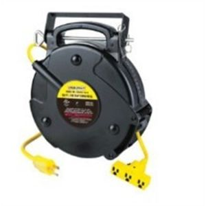 Triple Outlet Cord Reel, 50 ft., 14/3