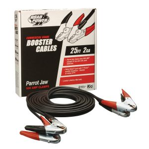 2 Gauge, 25' Booster Cable with Parrot Jaw Clamp