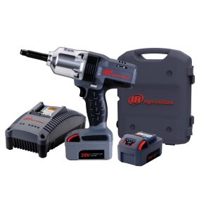 """IQv20 Li-Ion 1/2"""" Drive Impact Wrench Kit - Ext. Anvil w/ Charger and Two Batteries"""
