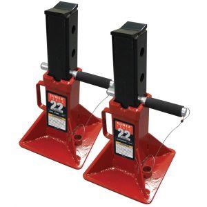 22-Ton Pin Type Jack Stands (Pair)
