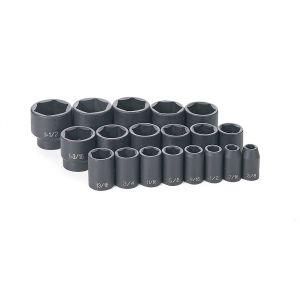 Grey Pneumatic 19-Piece 1/2 in. Drive Fractional SAE Standard Length Master Set