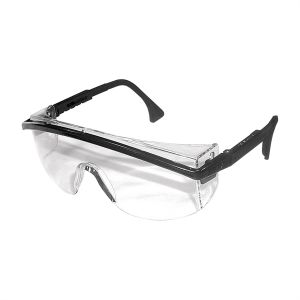 Astrospec 3000 Black Safety Glasses with Clear Lens