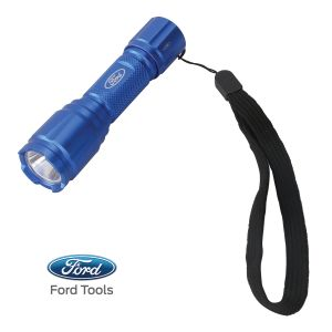 Ford Tools Aluminum LED 65 Lumen Flashlight, Battery Operated