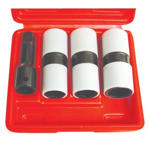 4-Piece 1/2 in. Drive Thin Wall Flip Impact Socket Set with Protective Sleeves
