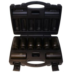 8 Piece 12 Point Axle Nut Socket Set
