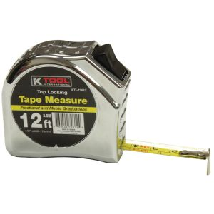 """1/2"""" x 12' Top Lock Tape Measure with SAE and Metric Markings"""