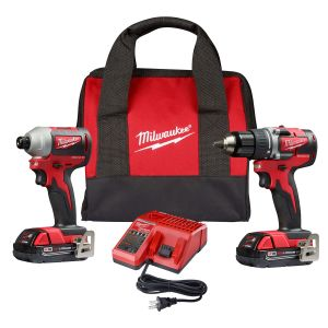 Milwaukee 2-Piece M18 Compact Drill Driver / Impact Driver w/ (2) Batteries Kit