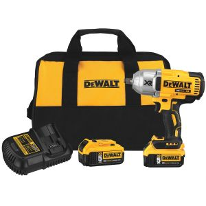 DeWalt 20V MAX XR High Torque 1/2 in. Impact Wrench with Hog Ring Anvil and (1) XR 5.0 Ah Battery Kit