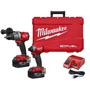 M18 FUEL 2-Tool Combo Kit: Hammer Drill / Impact Driver w/ (2) XC5.0 Batteries Kit