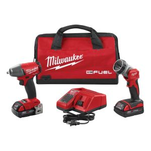 M18 FUEL 3/8 in. Impact Wrench and LED Light w/ (2) Batteries Kit