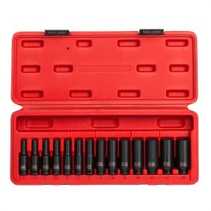 Sunex Tools 14-Piece 1/4 in. Drive Deep Metric Magnetic Impact Socket Set