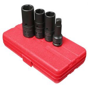 "4 pc. 1/2"" Drive Deep Thin Wall Flip Impact Socket Set"